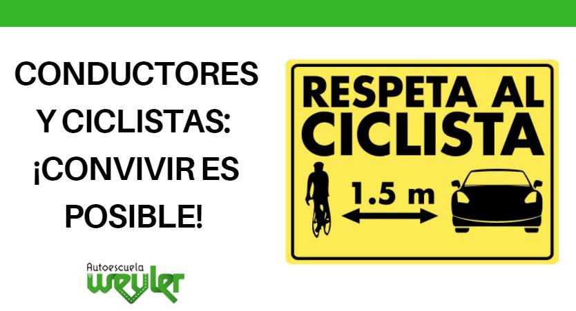Conductores y ciclistas: ¡convivir es posible!