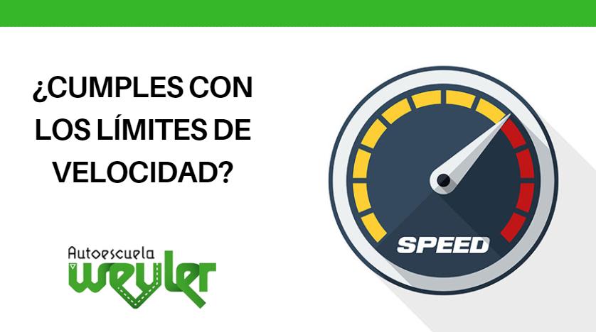 ¿Cumples con los límites de velocidad?