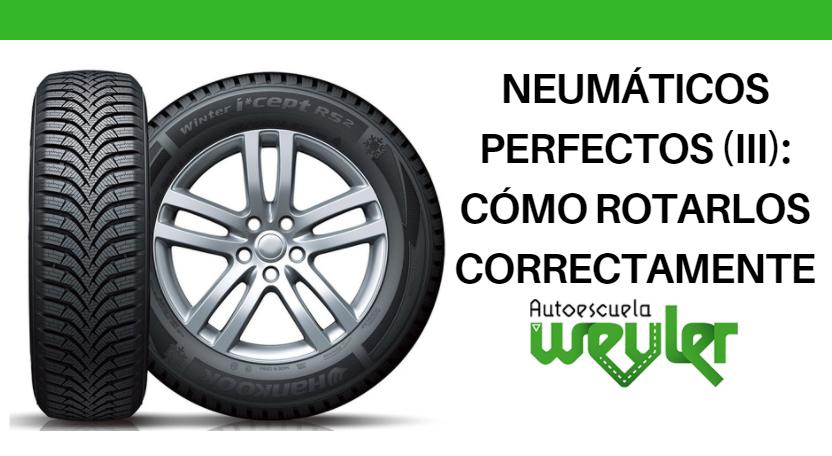 Neumáticos perfectos (III): cómo rotarlos correctamente