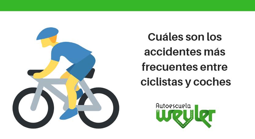 Cuáles son los accidentes más frecuentes entre ciclistas y coches