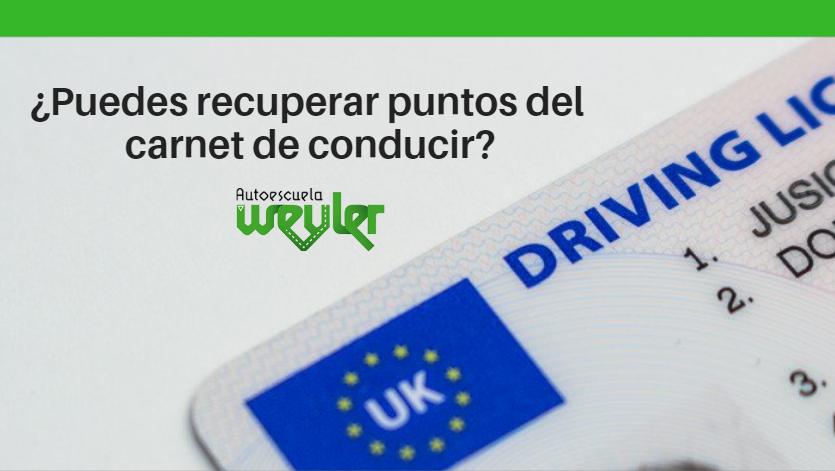 ¿Puedes recuperar puntos del carnet de conducir?