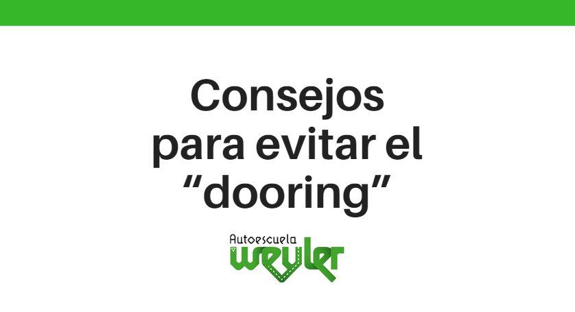 """Consejos para evitar el """"dooring"""""""