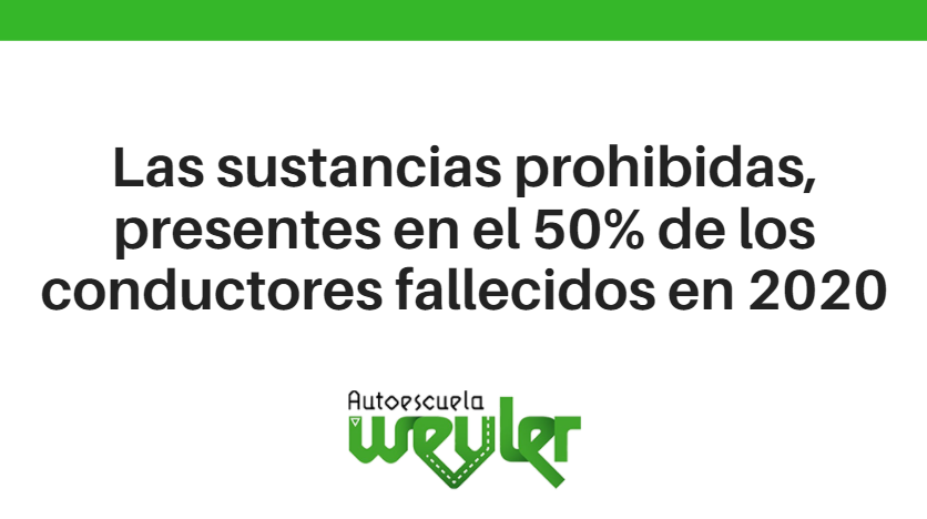 Las sustancias prohibidas, presentes en el 50% de los conductores fallecidos en 2020